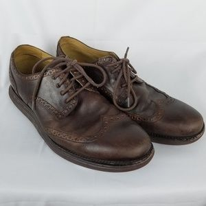Cole Haan Brown Lunargrand Wing Tip Shoes Size 10